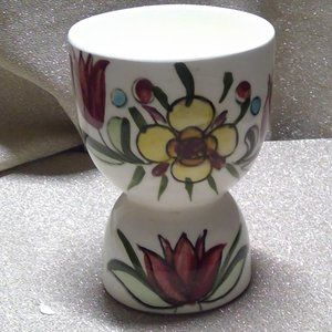 VTG EGG CUP FLORAL DESIGN CERAMIC JAPAN